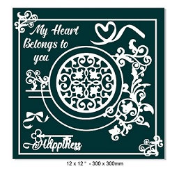 My heart belongs to you-12 x 12''- 300 x 300mm